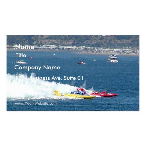 Barcos que compiten con tarjetas de visita