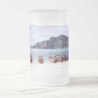 barcos Tailandia Taza De Cristal
