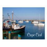 Barcos totales de Cape Cod Chatham en postal de la