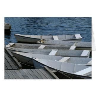 Barcos viejos en el muelle tarjeta pequeña