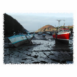 Barcos. Watermouth, Devon, Reino Unido Imán Fotoescultura