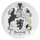 Barcroft Family Crest Plate