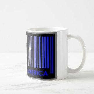 Bard Code Flag Colors AMERICA Light Design Coffee Mug