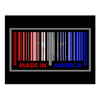 Bard Code Flag Colors AMERICA Light Design Postcard