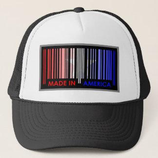 Bard Code Flag Colors AMERICA Light Design Trucker Hat