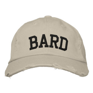 Bard Embroidered Hat Embroidered Baseball Cap