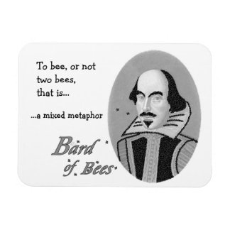 Bard of Bees - Magnet (customizable caption)