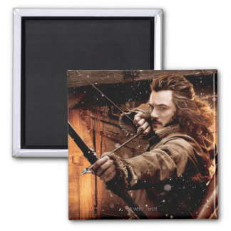 BARD THE BOWMAN™  and Characters Movie Poster 2 Inch Square Magnet