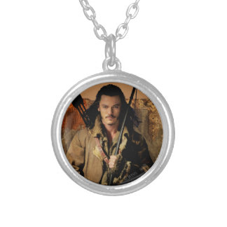 BARD THE BOWMAN™ Framed Graphic Round Pendant Necklace