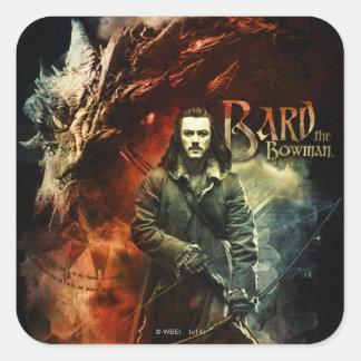 BARD THE BOWMAN™ & Smaug Square Sticker