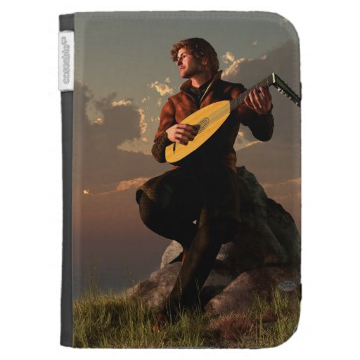 Bard with Lute Kindle 3G Covers
