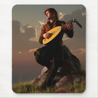 Bard with Lute Mouse Pad