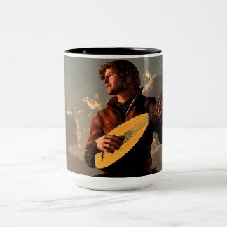 Bard with Lute Two-Tone Coffee Mug