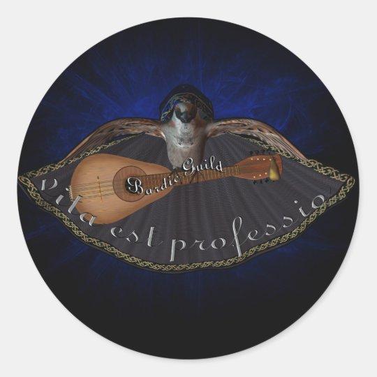 Bardic Guild Classic Round Sticker
