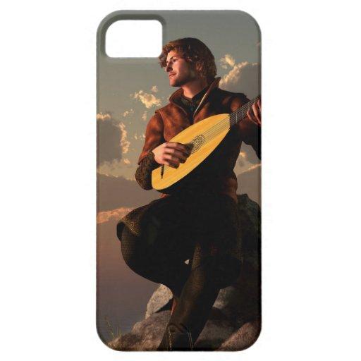 Bardo con el laúd iPhone 5 cárcasa