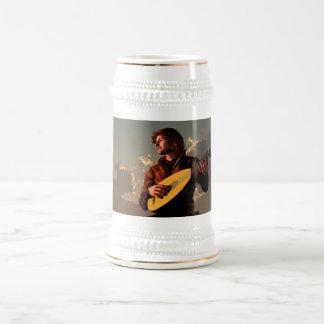 Bardo con el laúd jarra de cerveza