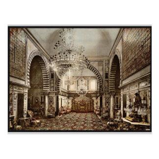 Bardo el cuarto del trono vintage Pho de Túnez Tarjetas Postales