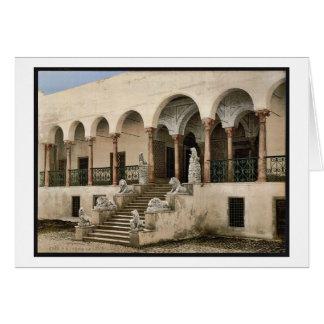 Bardo, la escalera del león, vintage de Túnez, Tún Felicitacion
