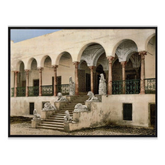 Bardo, la escalera del león, vintage de Túnez, Tún Postal