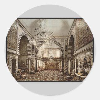 Bardo, the throne room, Tunis, Tunisia vintage Pho Stickers