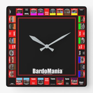 BardoMania Game Board Wall Clock