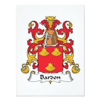 Bardon Family Crest Card