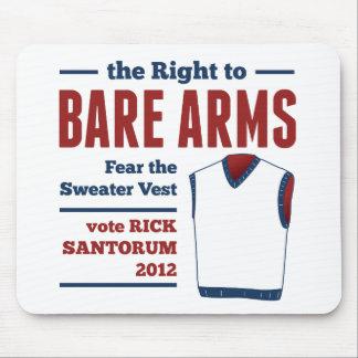 Bare Arms Rick Santorum Sweater Vest 2012 Mouse Pad