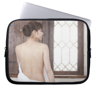 Bare Back of Young Woman Laptop Sleeves