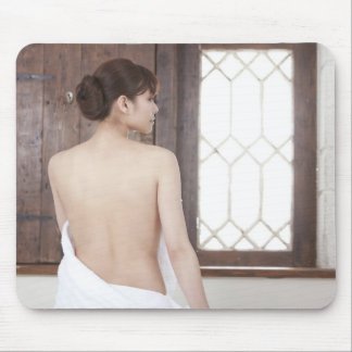 Bare Back of Young Woman Mouse Pad