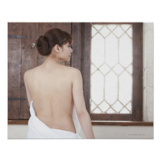 Bare Back of Young Woman Poster