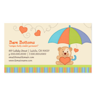 Bare Bottoms Baby Fashions Business Cards