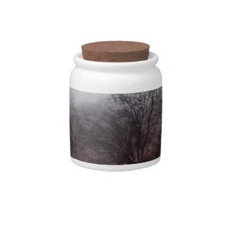 Bare Branches at Sunset Candy Jar