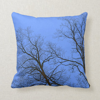 Bare Branches of Winter Trees Nature Art Pillows