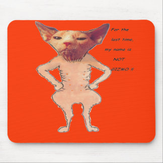 bare cat mouse pad