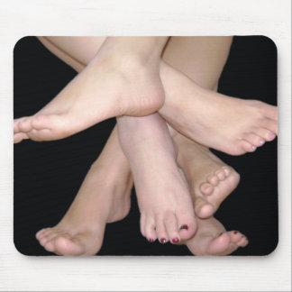 Bare Feet Art Mouse Pad