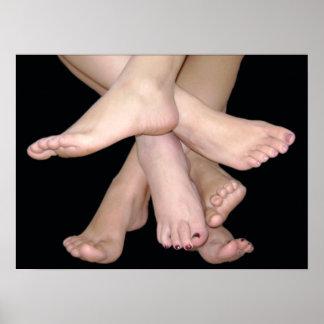 Bare Feet Art Poster