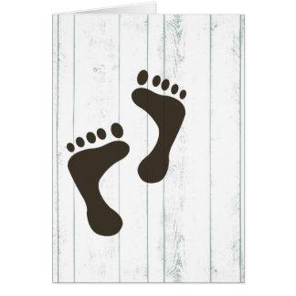 Bare feet card