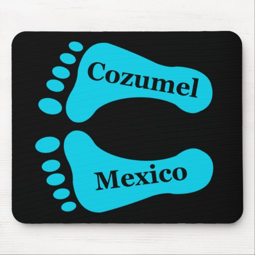 Bare Feet Cozumel Mexico Mousepads