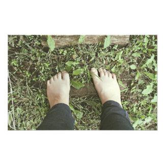 Bare feet photo print