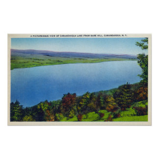 Bare Hill View of Canandaigua Lake Poster