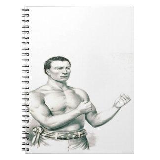Bare-Knuckle Boxer John C. Heenan - The Champ! Spiral Notebook