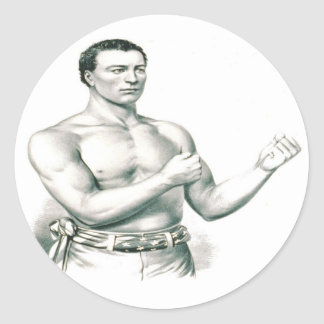 Bare-Knuckles Boxer John C. Heenan - The Champ! Classic Round Sticker