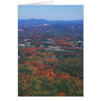 Bare Mountain Foliage View Amherst Greeting Card