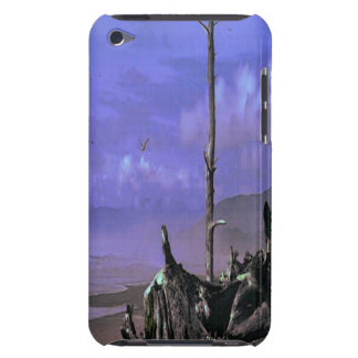 Bare Tree and Driftwood on a Coastal Shoreline iPod Touch Cover