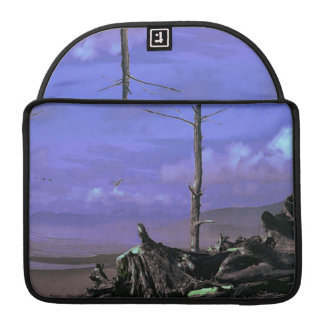 Bare Tree and Driftwood on a Coastal Shoreline Sleeves For MacBooks