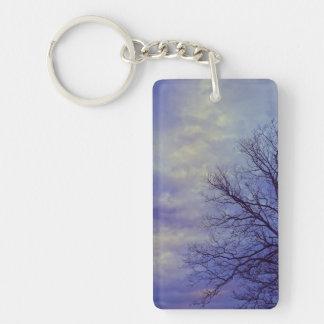 Bare Tree at Dusk Keychains