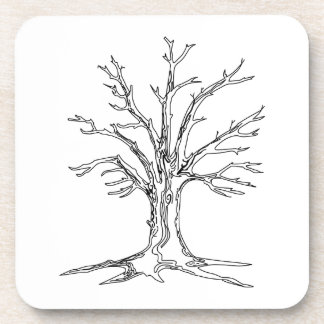 Bare Tree Beverage Coaster