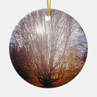 Bare Tree Ceramic Ornament