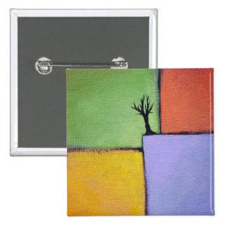 Bare tree colorful art all seasons modern painting pin
