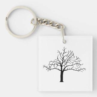 Bare Tree Design Keychain